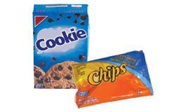 snack bags, wrappers and cookie bags