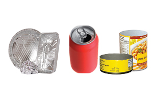 aluminum foil/trays, metal food and beverage cans