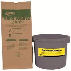yard waste bag and yard waste container