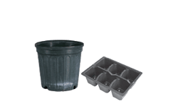 plastic plant pots and trays