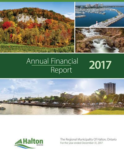 Thumbnail image of the cover of Halton Region's 2016 Annual Financial Report