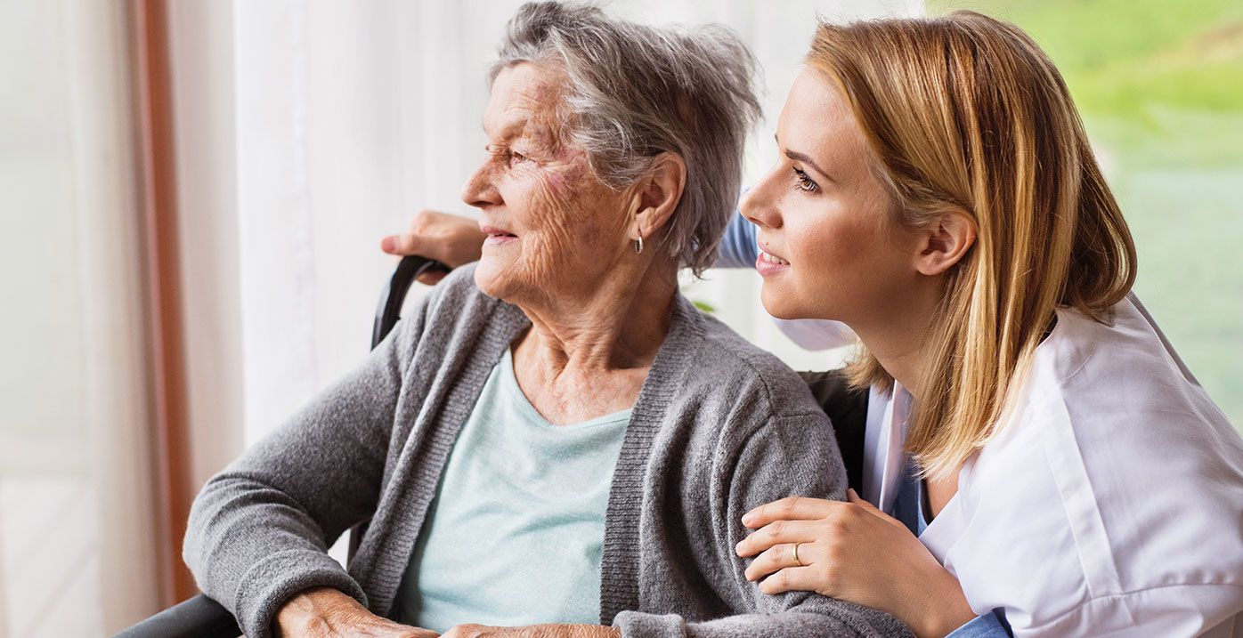 image of two adults at a long term care home