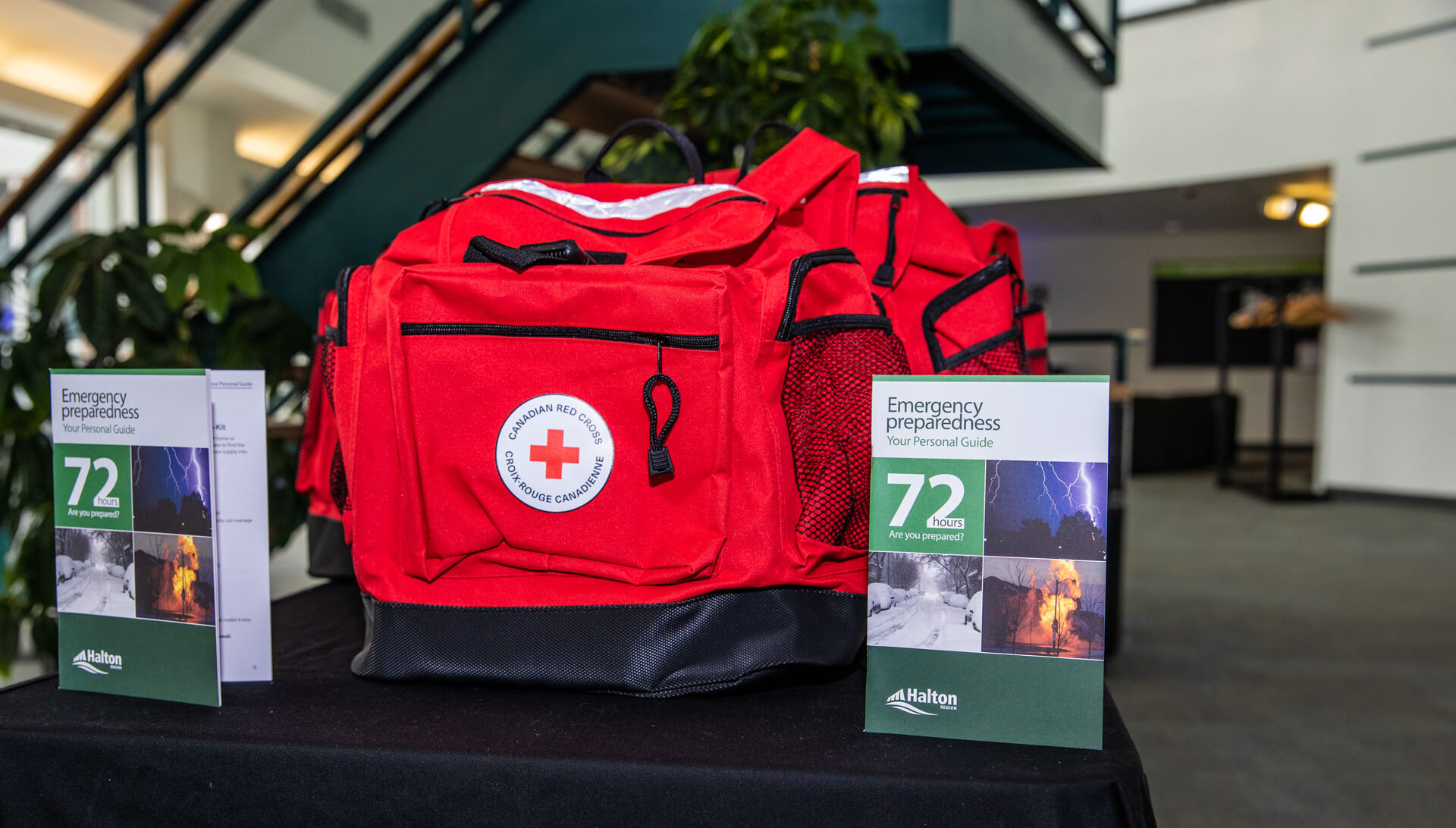 An emergency preparedness kit with the personal emergency preparedness guide.