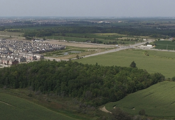 Aerial photo of Milton near proposed CN facility
