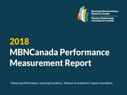 Thumbnail image of the cover of 2018 MBNCanada Performance Measurement Report